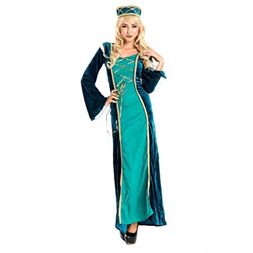 ZNZN Disfraces de Halloween Mujer Traje Traje de Princesa rabe con el Sombrero, Noble Adultos Traje Traje de Halloween, Juego de Roles, Arrastrar Partido, el etc.Verde Oscuro Disfraces de Halloween