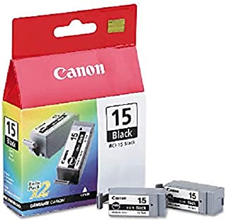BCI15BK (BCI-15) Ink Tank, 130 Page-Yield, 2/Pack, Black