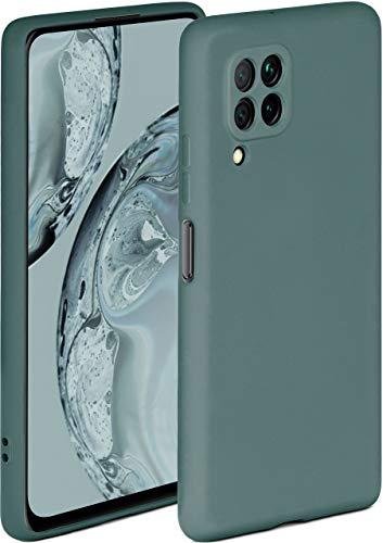 ONEFLOW Soft Hülle kompatibel mit Huawei P40 Lite Hülle aus Silikon, erhöhte Kante für Displayschutz, zweilagig, weiche Handyhülle - matt Petrol