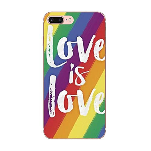 APHT Rainbow Love is Love I'm Pround of You LGBT Gay Lesbian Pride Phone Custodia Compatible with iPhone 5-12 PRO Max Gel Soft TPU Silicone Bumper Phone Shell Protective Protection Case