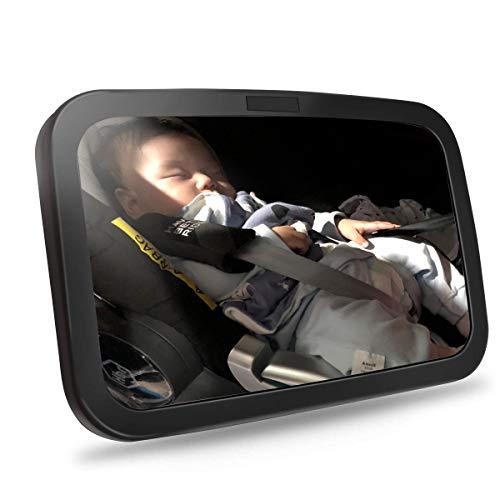 Specchietto per seggiolino auto di sicurezza per bambini, specchietto retrovisore per bambini, neonato rivolto all'indietro, ampia visuale...