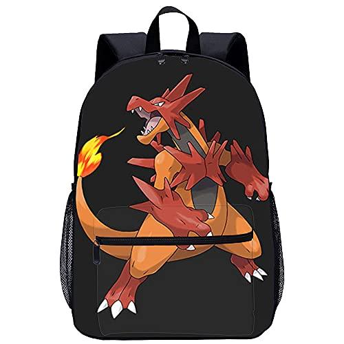 PAWANG Sac à dos scolaire 3D Pokémon Pikachu Sac pour ordinateur portable léger, adapté aux étudiants, garçons et filles, aux voyages et au camping