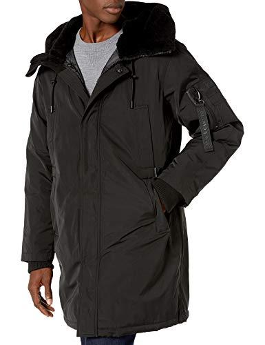 Vince Camuto Men's Insulated Winter Coat, Black, Medium