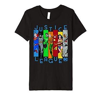 Kids DC Comics Justice League Colorful Panels Premium T-Shirt
