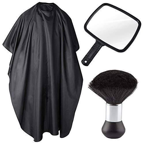 TRIXES Paquete de Peluquería - Incluye espejo, bata de cuerpo/capote y cuello