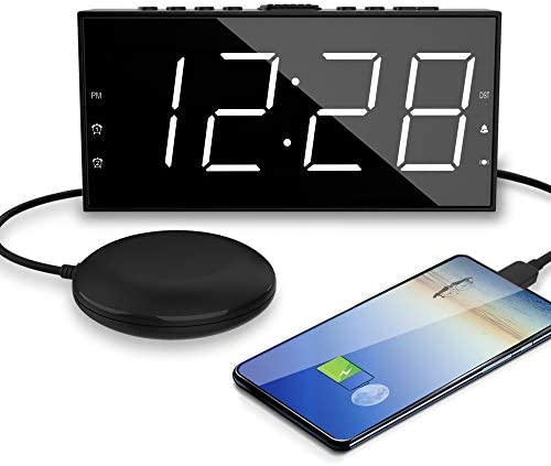 OnLyee Alarm Clock for Heavy Sleepers Vibrating Extra Loud Bed Shaker with 7 5 Large Bright product image