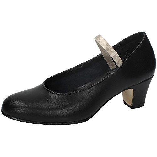 MADE IN SPAIN 16 Zapato Flamenco Piel NIÑA Zapatos TACÓN Negro 38