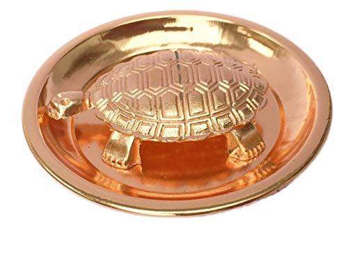 Whopper Feng Shui Koper schildpad met koperen plaat showpiece, Lucky Charms Goede Omens Goede gezondheid schildpad voor Good Luck Beste wens geschenk, Beste voor huis & kantoor decoratie