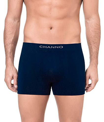 Channo Calzoncillos Boxer Licra sin Costura Color Uniforme (Pack B, XXL)