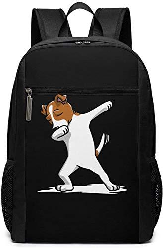 Adventure Awaits Freccia Viaggio Laptop Bag Moda Bookbag Computer Business Zaini -Funny Dabbing Jack Russell Terrier Cane