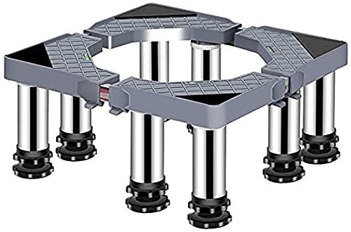WECDS Base Ajustable Antivibración Refrigerador Base para Lavadora Soporte Ajustable 19-22cm Soporte para cocinas Elevado Acero Inoxidable A Pedestal para Secadora retráctil 40-65cm