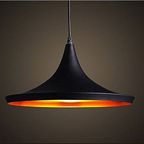 Retro Vintage Pendant Light Shades Contemporary Pendant Ceiling Light Black Metal Ceiling Lighting E27 Light Lamp Fixture (Type B)
