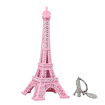 SICOHOME Eiffel Tower Cake Topper 7  Pink Eiffel Tower Decor with Blings,Eiffel Tower Statue Decor for Cake Topper,Gifts,Wedding Party,Home Decoration,Birthday Party Favor