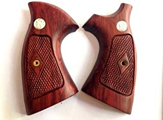 DOXICON&NOMIX Hardwood K Frame Square Butt Smith and Wesson Handcraft Handmade Grips Revolvers Checkered …