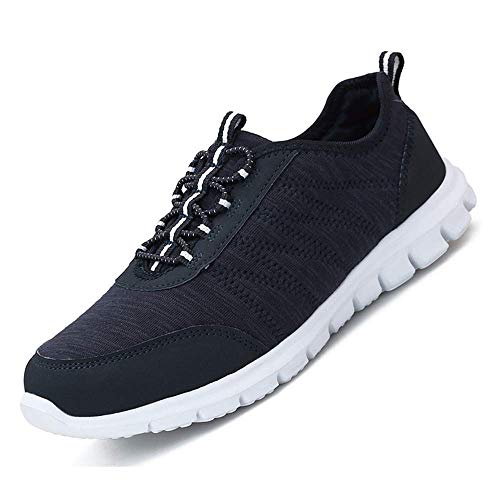 Pt&Hq Casual Lightweight Walking Shoes Comfortable Slip On Running Sneakers for Women Blue 10