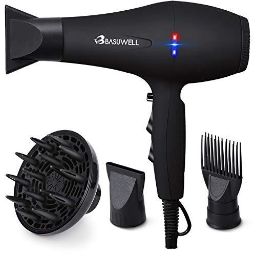 Basuwell Hair Dryer Professional 2100W Salon Hairdryer Ionic Far Infrared 2 Speed 3 Heat Cool Shot...