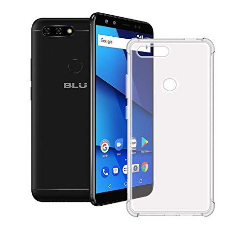 YZKJ Funda para BLU Vivo X Transparente Carcasa Flexible Ultra Slim Soft Silicona TPU Suave Protectora Caso Case Shell Cover para BLU Vivo X (6.0')