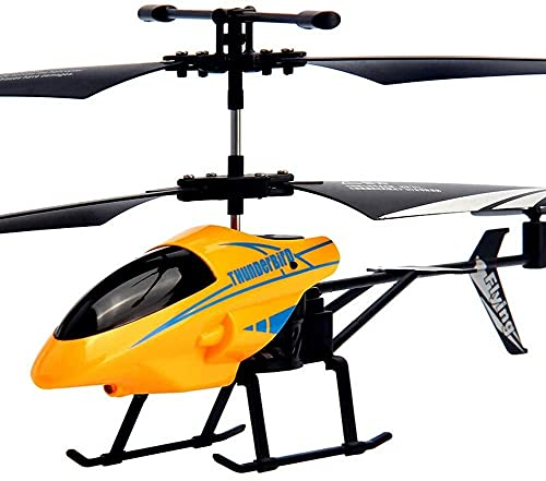 Waqihreu RC Helicóptero Control Remoto Canales de Aviones Versión de Vuelo Lateral Avión Incorporado Giroscopio de 6 Ejes Estable Fácil de Volar Luz Intermitente Juguete para niños a Partir de 6 años