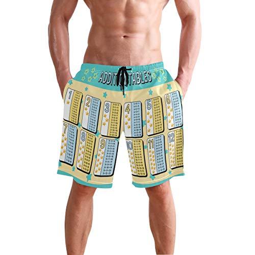 Alarge - Pantalones cortos de playa para hombre, tabla de matemáticas, baños, de secado rápido, Varios Colores, X-Large
