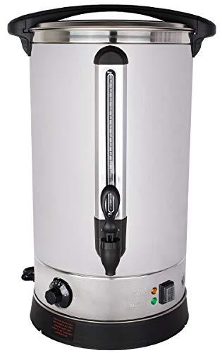 Beeketal 'BGWK20' Gastro Glühweinkocher 20 Liter Volumen mit Füllstandskala, Anit-Tropf Zapfhahn und stufenlos regelbarem Thermostat (30-110 °C), Profi Edelstahl Wasserkocher mit 2500 Watt Leistung