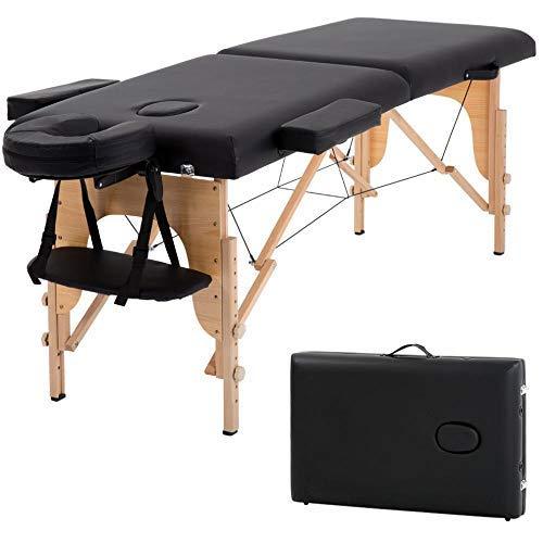 Mesa de masaje portátil de 73 pulgadas 2 cama plegable de cuero...