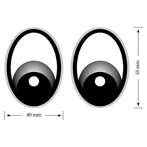 Augen Grau Saugroboter,Aufkleber,Staubsauger Roboter,Sticker,Eye,Stickers,Mähroboter Grau Rasenmäher Mähroboter