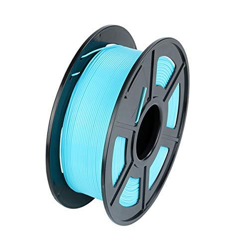 3D Printer Filament PLA 1.75mm, Filament PLA 1kg PLA 3D Printing Filament for 3D Printers/ 3D Pens, Dimensional Accuracy +/- 0.02 mm, Vacuum Packaging/No Tangles, 5 Colors (Light blue)