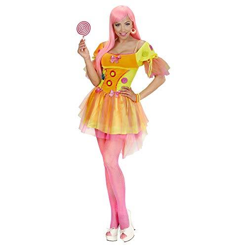 Widmann 49403 - kostium dla dorosłych Neon Fantasy Girl, sukienka, żółty, rozmiar L
