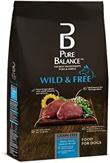 Pure Balance Wild & Free Bison, Pea & Venison Recipe Food for Dogs 24lbs