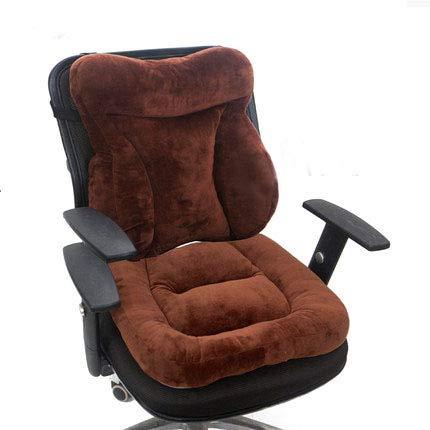 Thicken Chair Cushions,cojín Del Asiento Del Dolor De La Espalda Baja,almohadillas De Silla De Confort Suave Para La Silla De Oficina,asiento De Coche,silla De Ruedas A-marrón 45x88cm(18x35inch)
