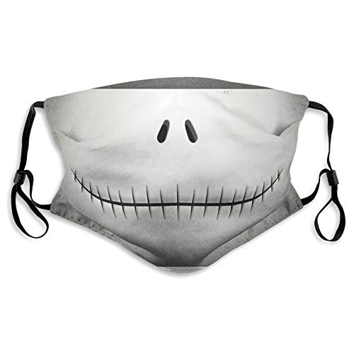 Smile Face Mask Reusable Comfortable Adjustable Windproof Bandanas Mouth Warm Dustproof Masks with 2 Filter
