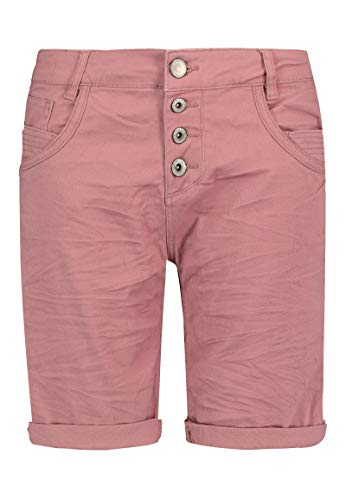 Sublevel Damen Bermuda-Shorts mit Aufschlag & Knopfleiste Dark-Rose M