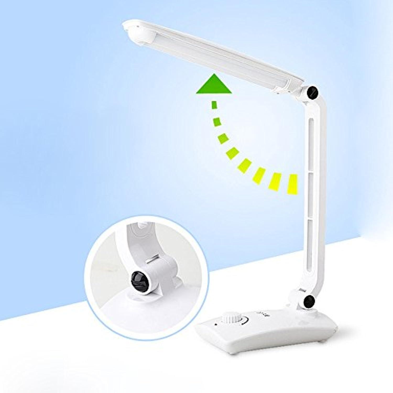 European Office Familie Wohnheim Lernen Sie Die Lampe LED Dimmen Falten Lange Arm Schreibtischlampe ABS 22.5 cm Wei