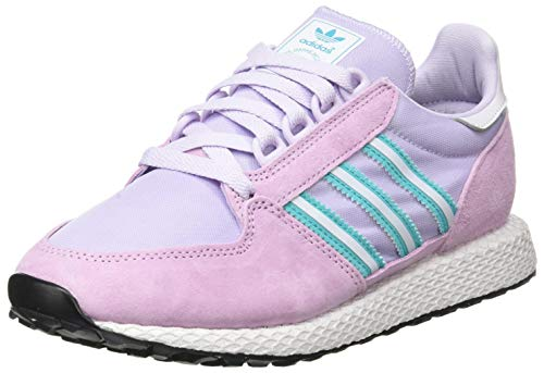 adidas Womens Forest Grove Sneaker, Clear Lilac/Dash Grey/Hi-Res Aqua, 39 1/3 EU