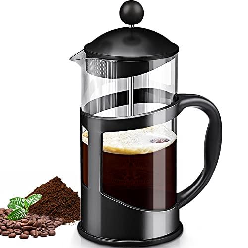 Cafetera Prensa Francesa de Virdrio cafetera y tetera Cafetera de Émbolo French Press para Hacer Café y Té Mejor compartir un cafe...