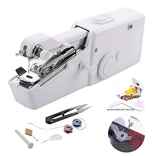 H.R. NAKRANI Enterprises Sewing Machine Electric Handheld Sewing Machine Mini Handy Stitch Portable Needlework Cordless Handmade DIY Tool Clothes Portable