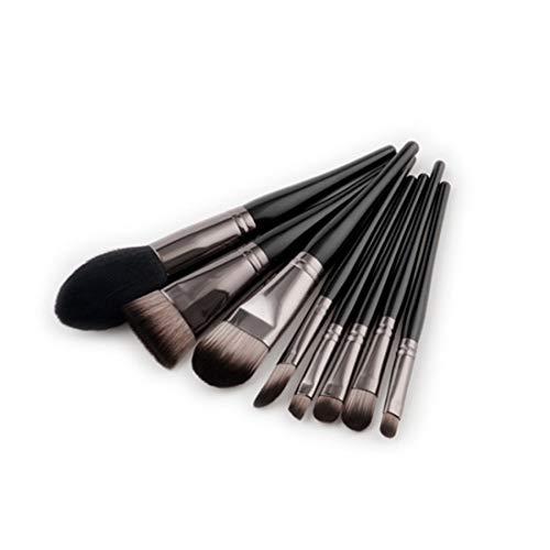Chenzinan 8PCS Maquillage brosse de pinceau de maquillage Kit nylon cosmétiques Pinceaux yeux Pinceau professionnel (Color : Black Coffee)