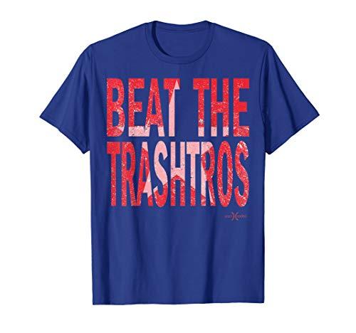 Beat the Trashtros   Texas Lone Star Baseball Collection T-Shirt