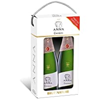 Codorníu | Estuche regalo Cava Anna de Codorníu Brut Nature | 2 botellas de 75 cl