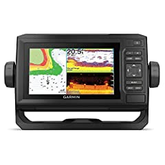 """Bright, Sunlight-readable 6"""" combo Includes GT24 transducer for ultra High-Definition clearer scanning sonar and Garmin high wide CHIRP traditional sonar Preloaded LakeVü G3 inland maps with integrated Navionics data cover more than 17, 000 lakes wit..."""