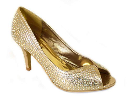 Sandalias de tacón bajo para dama de honor, de novia, para mujer,...