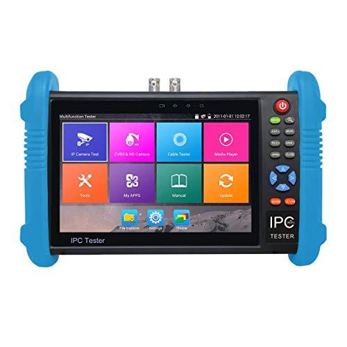 Pantalla táctil IPS de 7 Pulgadas H.265 4K IPC-9800 Plus Cámara IP Tester CCTV CVBS Probador analógico Construido en WiFi Dual Window Tester Vida Solitaria