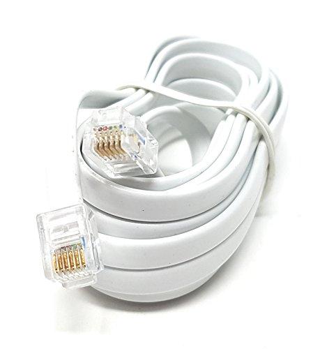 MainCore - Cable largo plano RJ12 a RJ12 (6P6C) RJ11 a RJ11 con 6 cables) (Disponible en 0,30 m, 0,50, 2 m, 3 m, 5 m, 10 m) 3 m
