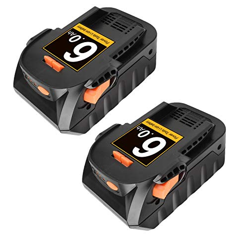 Bonadget R840087 Battery 2 Pack 6.0Ah Lithium Ion Replacement Battery Compatible with 18V Ridgid Drill R840083 R840086