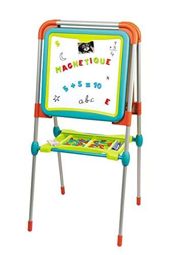 Smoby - Tableau des Grands - Double Face Blanche Magnétique + Ardoise Craie - Pliable - 80 Accessoires Inclus - pour Enfant Dès 3 Ans - 410103
