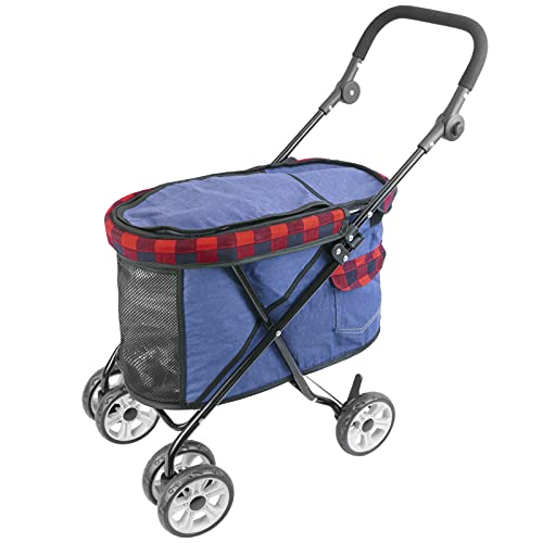 PrimeMatik - Kinderwagen zum Transport Hunden, Katzen und Haustieren. rot Farbe