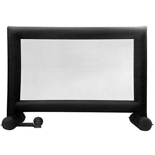 Anfan Inflatable Movie Screen Airblown Outdoor Screen for a Backyard Theater Projection Screen (Black)
