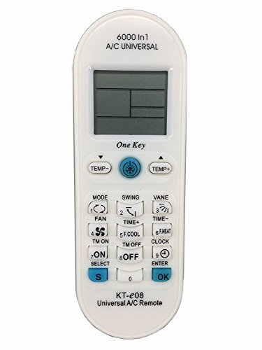 in budget affordable KT-E08 Universal Remote Control (for all major brands) Mini Split AC