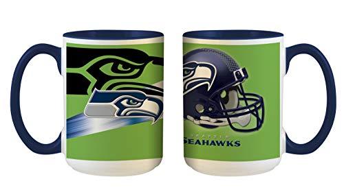 Seattle Seahawks NFL 3D Inner Color Tasse, Becher, Mug 445ml