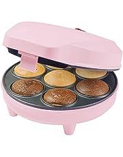 Bestron ACC217P cupcake maker, muffinmaker in Sweet Dreams design, antiaanbaklaag, 700W, roze